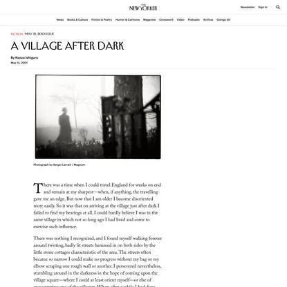 A Village After Dark