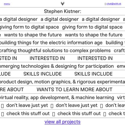 👋 Welcome! - Stephen Kistner