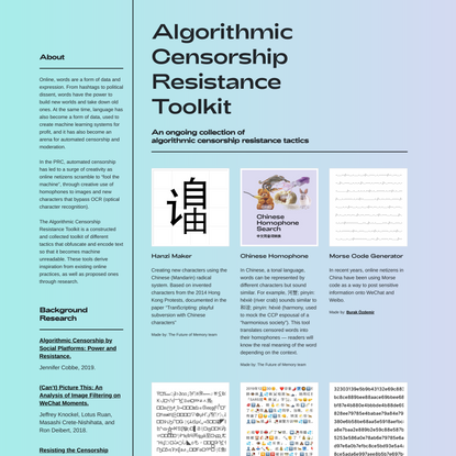 Algorithmic Censorship Resistance Toolkit