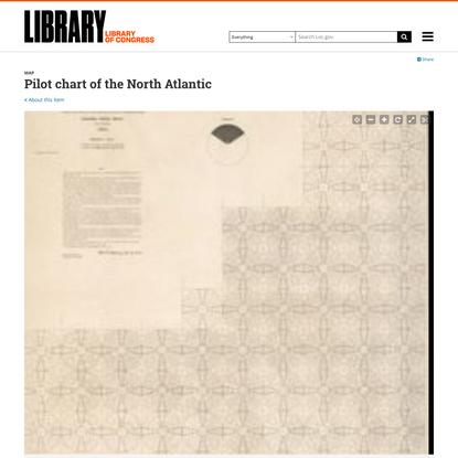 Pilot chart of the North Atlantic