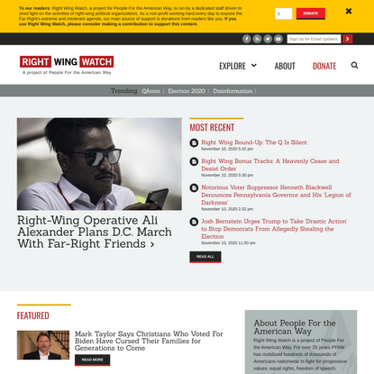Homepage | Right Wing Watch