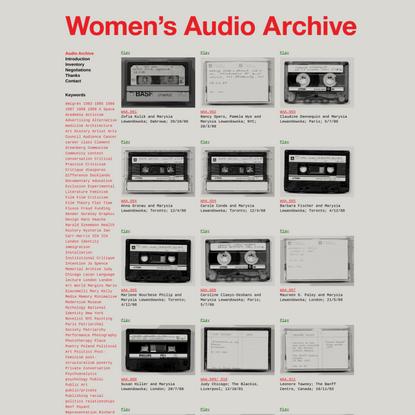 Women's Audio Archive