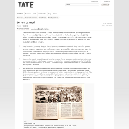Lessons Learned | Tate