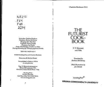 The Futurist Cookbook,1932