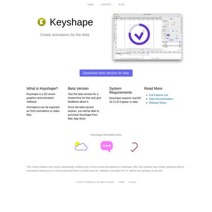 Keyshape - Create animations for the web