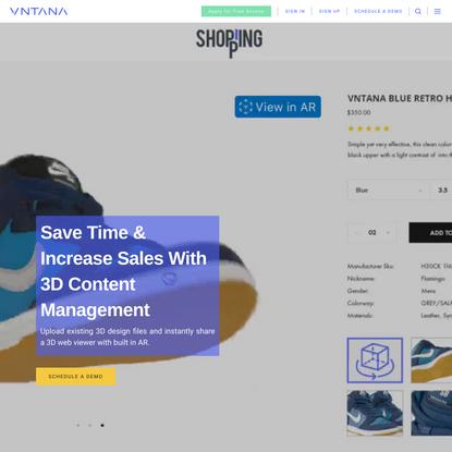 3D CMS & AR eCommerce - VNTANA