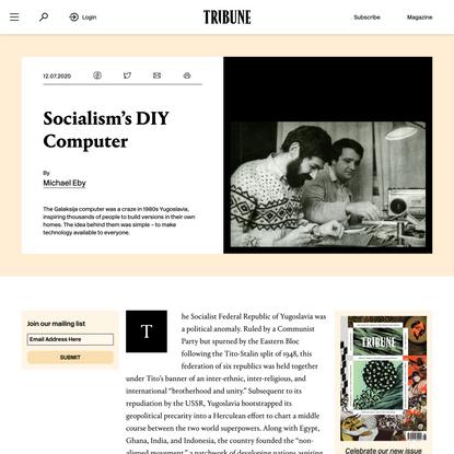 Socialism's DIY Computer