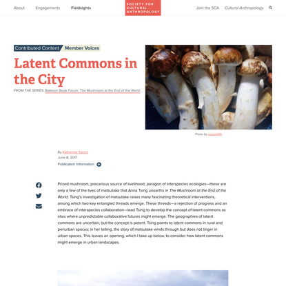 Latent Commons in the City