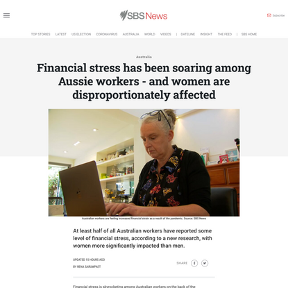 Financial stress has been soaring among Aussie workers - and women are disproportionately affected