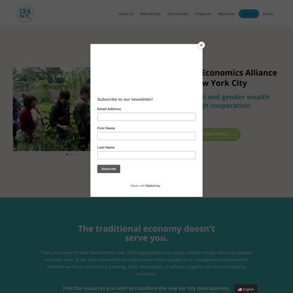 Cooperative Economics Alliance of New York City| Closing the Wealth Gap