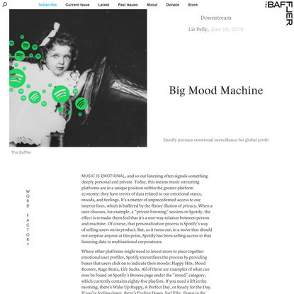 Big Mood Machine | Liz Pelly