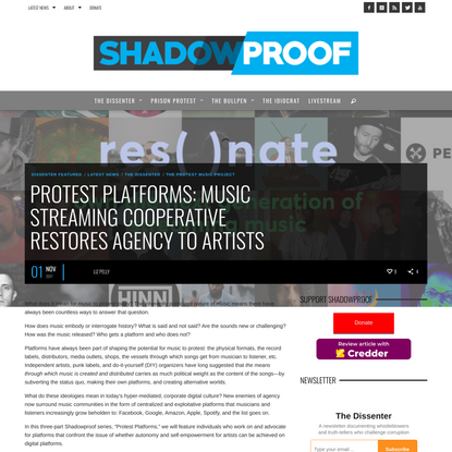 Protest Platforms: Streaming Co-Op Restores Agency To Artists