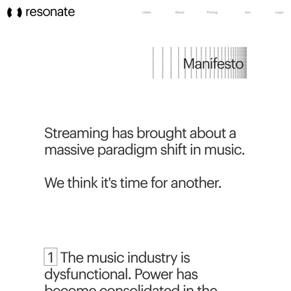 Manifesto - Resonate