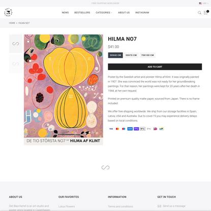 Hilma NO7 – Det Blaa Kartel