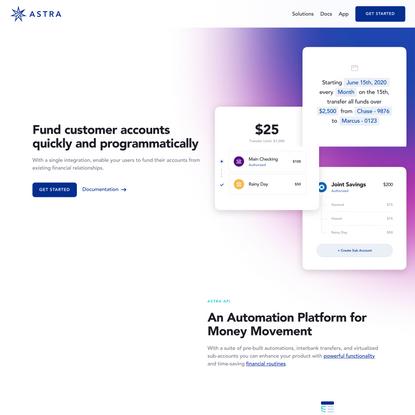 Automated Bank Transfers via API