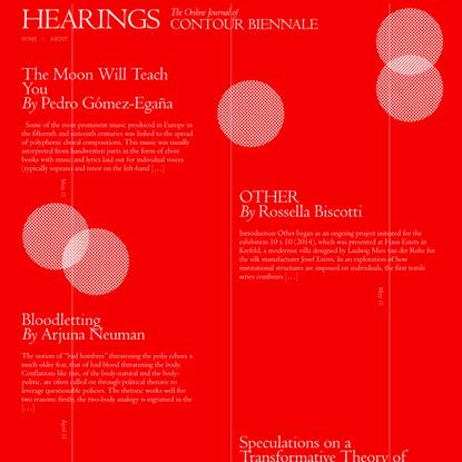 Hearings - Contour Biennale 8