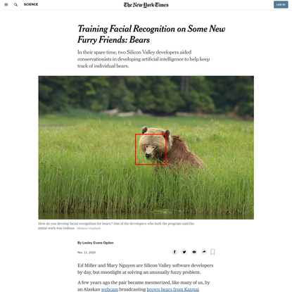 Training Facial Recognition on Some New Furry Friends: Bears