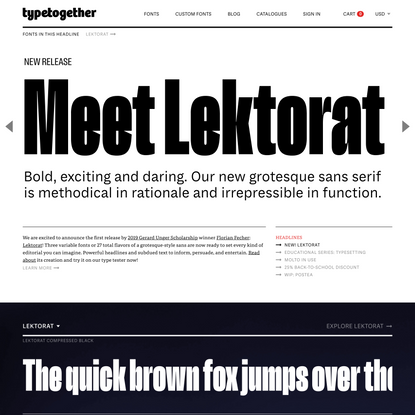 TypeTogether | High quality fonts and custom type design