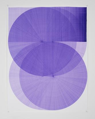 "Thomas Trum on Instagram: ""One purple line 07 104x80cm 2019"""