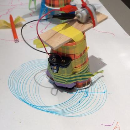 "Jasper Eikmeier on Instagram: ""Rattling Robot Parade - the making workshop for children i gave today. For the opening of lib..."