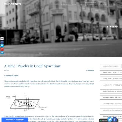 A Time Traveler in Gödel Spacetime