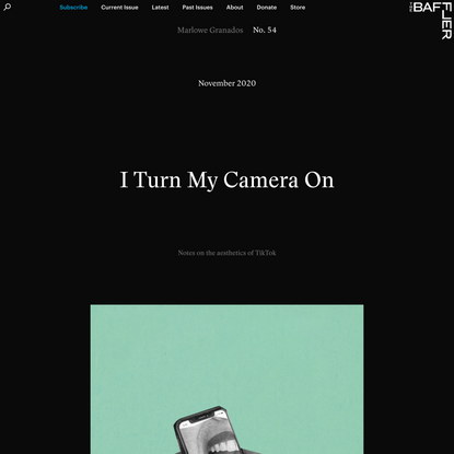 I Turn My Camera On | Marlowe Granados