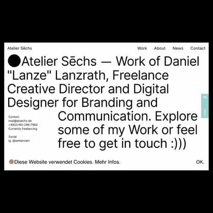 """Mindsparkle Mag on Instagram: """"Site of the day: Atelier Sēchs @atsechs by Daniel (Lanze) Lanzrath @iamlanzart — https://mind..."""