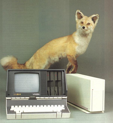"Do You Compute? on Instagram: ""Osborne Vixen ad, 1984"""