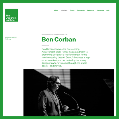 Ben Corban — The Designers Institute of New Zealand