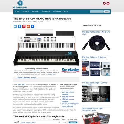 The Best 88 Key MIDI Controller Keyboards - 2020 | Gearank