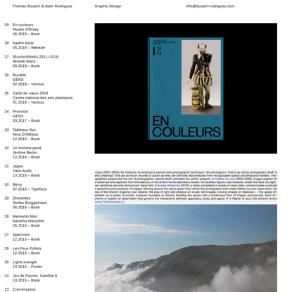 Thomas Bizzarri & Alain Rodriguez – Graphic Design