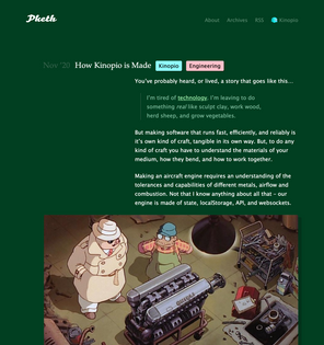 New Blog Post: How Kinopio is Made