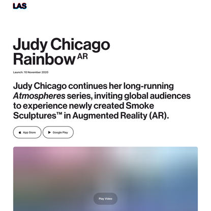 LIGHT ART SPACE (LAS) | Judy Chicago, Rainbow AR