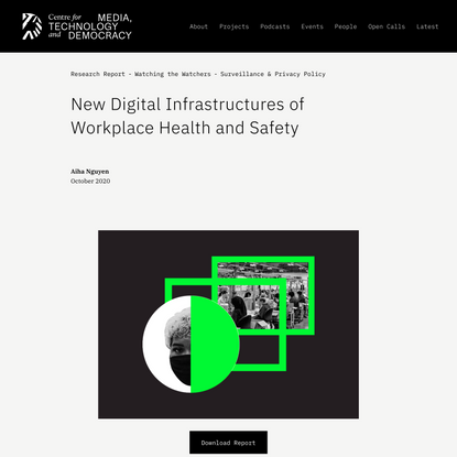 New Digital Infrastructures of Workplace Health and Safety — Centre for Media, Technology and Democracy