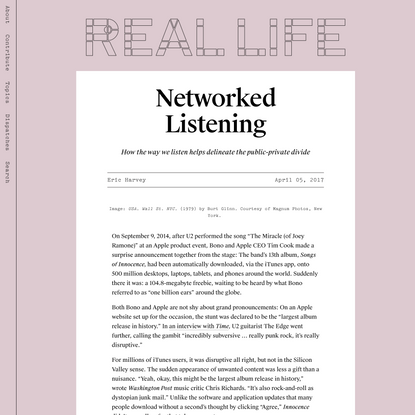Networked Listening — Real Life