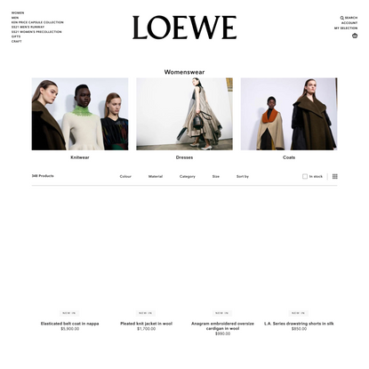 Luxury womenswear for women | LOEWE Official Site