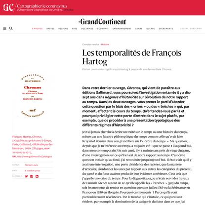 Les temporalités de François Hartog - Le Grand Continent