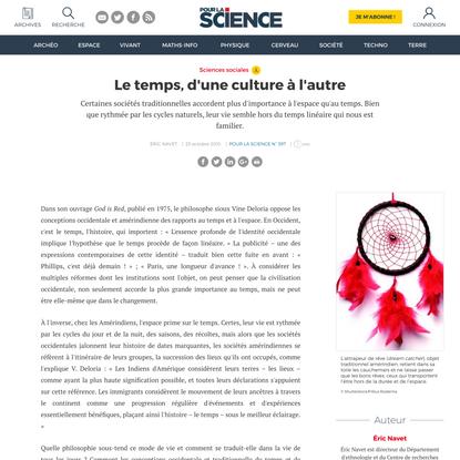 Le temps, d'une culture à l'autre | Pour la Science