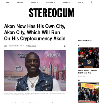 Akon Now Has His Own City, Akon City, Which Will Run On His Cryptocurrency Akoin