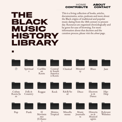 Library - Black Music History Library