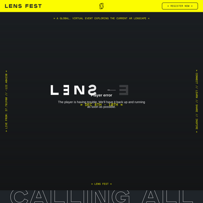 Lens Fest – Snap's Global AR Festival on December 8-10