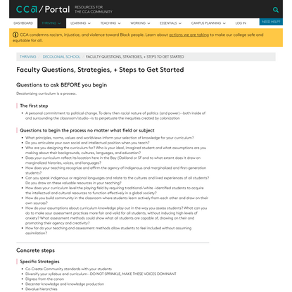 Faculty Questions, Strategies, + Steps to Get Started