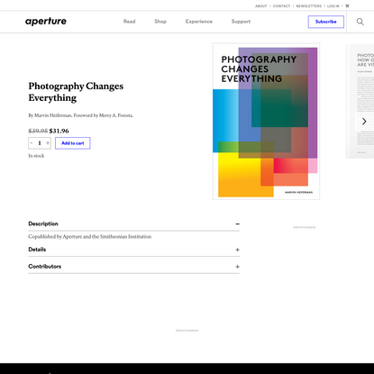Photography Changes Everything | Aperture