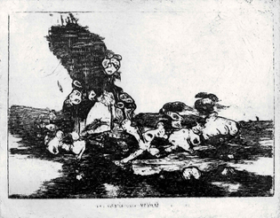 An intaglio print of an ML generated image. The image looks quite abstract, but resembles a pile of distorted bodies against a cross hatched pattern in the background
