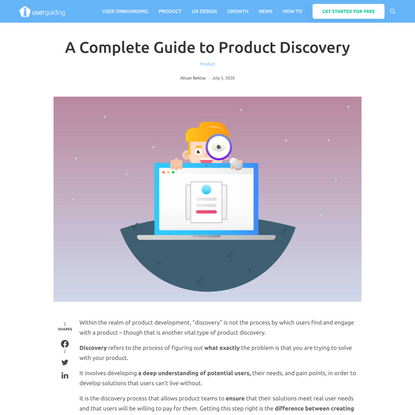 A Complete Guide to Product Discovery | UserGuiding