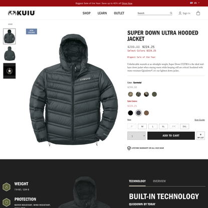 Super Down Ultra Hooded Hunting Jacket | KUIU