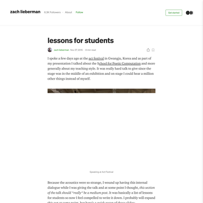 lessons for students