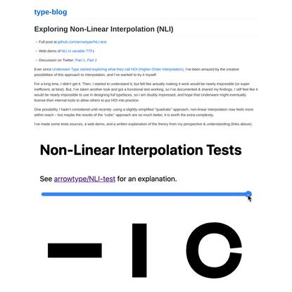 Exploring Non-Linear Interpolation (NLI)