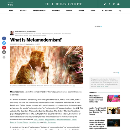 What Is Metamodernism?