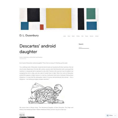 Descartes' android daughter